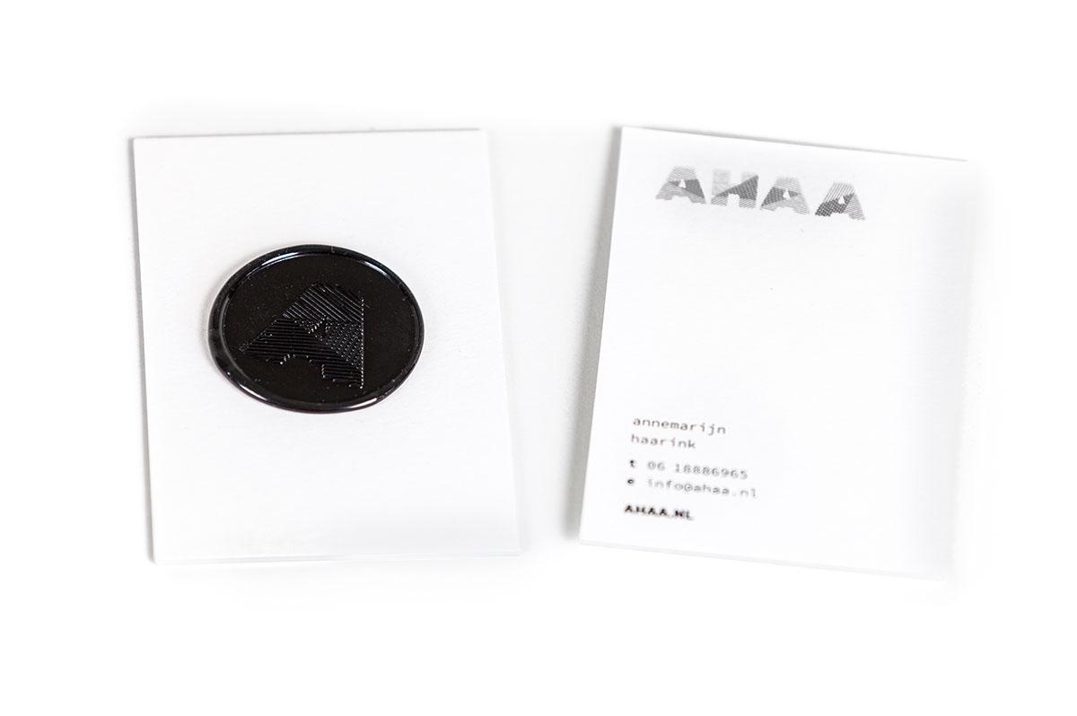 AHAA visitekaartje met lakzegel